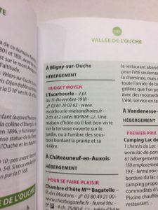 l'Escarboucle maison d'hôte bourgogne côte d'or - guide du Routard 2018 bligny sur ouche