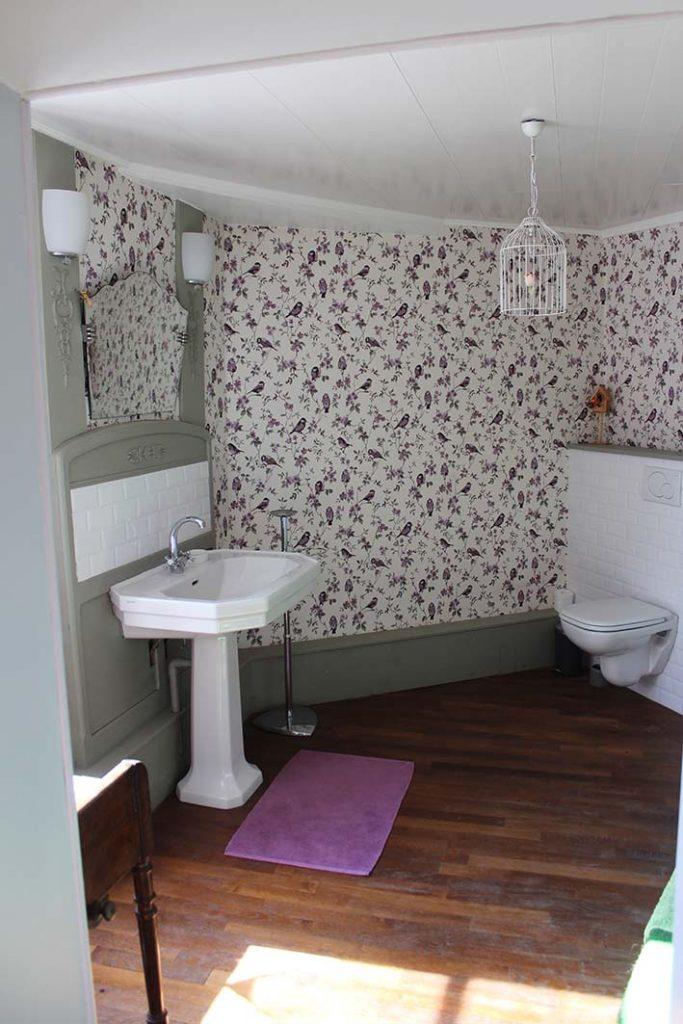 lavabo et toilette de la dormeuse table d'hotes B&B chambres hotel escarboucle maison d' hotes bligny sur ouche côte d or bourgogne gîte hébergement proche de à côté à proximité de Beaune designed by emmanuel bertomeu infographiste molsheim alsace strasbourg bas rhin grand est